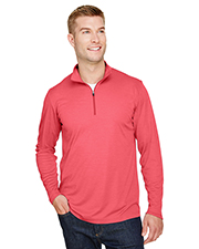 Team 365 TT31H Men 3.8 oz Zone Sonic Heather Performance Quarter-Zip at GotApparel