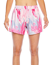 Team 365 TT42W Women All Sport Sublimated Pink Swirl Short at GotApparel