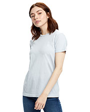 US Blanks US100GD Women 4.5 oz Short-Sleeve Garment-Dyed Jersey Crew at GotApparel