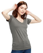 US Blanks US120 Women Made in USA Short-Sleeve V-Neck T-Shirt at GotApparel