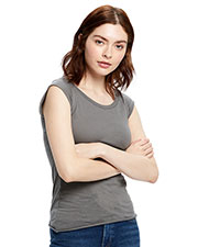 US Blanks US180 Women 3.8 oz Cap Sleeve Raw Edge Open Neck at GotApparel