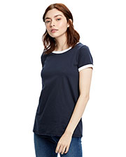 US Blanks US609 Women Classic Ringer T-Shirt at GotApparel
