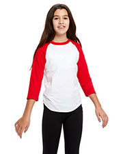 US Blanks US6601K Youth Baseball Raglan T-Shirt at GotApparel