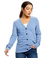 US Blanks US950 Women 4.9 oz Long-Sleeve Cardigan at GotApparel