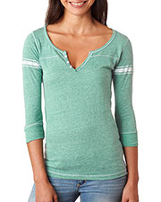 MV Sport W1454 Women Hailey 3/4-Sleeve Henley at GotApparel