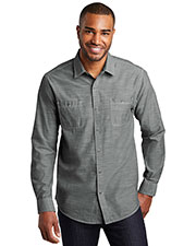 Port Authority W380 Men 3 oz Slub Chambray Shirt at GotApparel