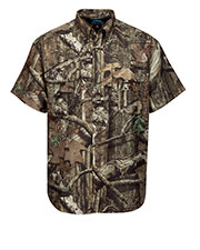 Tri-Mountain W703C Men Reef Camo Polyester Short Sleeve Shirt at GotApparel