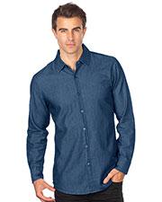 Tri-Mountain W825 Men Long Sleeve Denim Shirt at GotApparel
