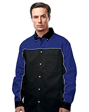 TMR W908LS Men Downshifter Long Sleeve Woven Twill Shirt at GotApparel
