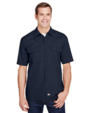 Dickies Workwear WS675 Men FLEX Relaxed Fit Short-Sleeve Twill Work Shirt at GotApparel