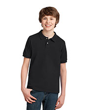 Port Authority Y420 Boys Pique Knit Polo at GotApparel