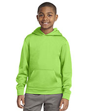 Sport-Tek® YST244 Boys Sport-Wick Fleece Hooded Pullover at GotApparel