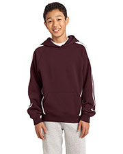 Sport-Tek YST265 Boys Sleeve Stripe Pullover Hooded Sweatshirt at GotApparel