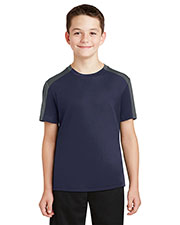 Sport-Tek YST354 Boys PosiCharge Competitor SleeveBlocked Tee at GotApparel