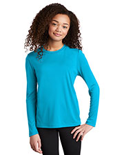Sport-Tek YST420LS Boys Posi-UV ™ Pro Long Sleeve Tee at GotApparel