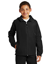 Sport-Tek YST73 Girls Hooded Raglan Jacket at GotApparel