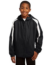 Sport-Tek YST81 Boys Fleece-Lined Colorblock Jacket at GotApparel