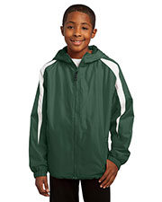 Sport-Tek® YST81 Boys Fleece-Lined Colorblock Jacket at GotApparel