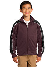 Sport-Tek YST92 Boys Piped Tricot Track Jacket at GotApparel