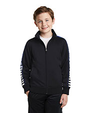 Sport-Tek YST93 Boys Dot Sublimation Tricot Track Jacket at GotApparel