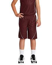 Sport-Tek® YT565 Boys PosiCharge®  Mesh Reversible Spliced Short at GotApparel