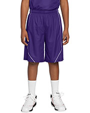 Sport-Tek YT565 Boys PosiCharge™ Mesh Reversible Spliced Short at GotApparel