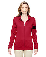 Adidas A191 Women climalite 3Stripes Full Zip Jacket at GotApparel