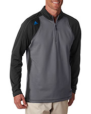 Adidas A276  's Climawarm + 3-Stripes Colorblock Quarter-Zip Training Top at GotApparel