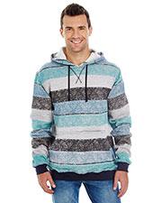 Burnside B8603 Men Printed Stripe Marl Pullover at GotApparel