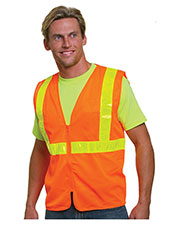 Bayside BA3780 Unisex Mesh Safety Vest - Orange at GotApparel