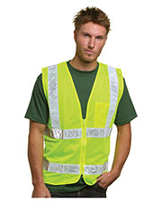 Bayside BA3785 Unisex Mesh Safety Vest - Lime at GotApparel