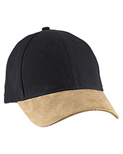 Big Accessories BA555 Unisex Suede Bill Cap at GotApparel
