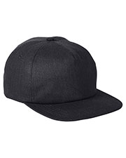 Big Accessories BA615 Unisex Squatty Herringbone Cap at GotApparel
