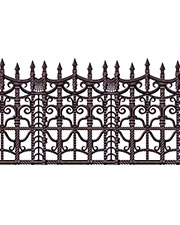 Halloween Costumes BG00908 Creepy Fence Border at GotApparel