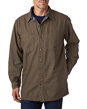 Backpacker BP7006 Men Canvas Shirt Jacket with Flannel Lining at GotApparel