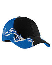 Port Authority C859 Men Colorblock Racing Cap with Flames at GotApparel