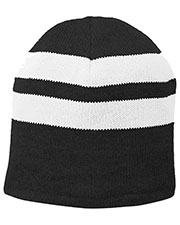 Port Authority C922 Unisex Fleece-Lined Striped Beanie Cap at GotApparel