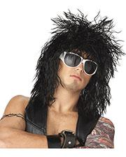 Halloween Costumes CC70476BK Unisex Dude Rockin Black Wig at GotApparel