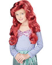 Halloween Costumes CC70698RD Unisex Lil Mermaid Red Wig at GotApparel