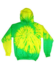 Tie-Dye CD8700 Men Fluorescent Tie-Dyed Pullover Hoodie at GotApparel