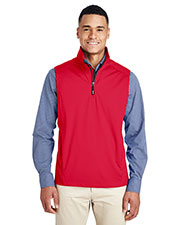 Ash City - Core 365 CE709 Men Techno Lite Shell Quarter-Zip Vest at GotApparel