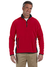 Chestnut Hill CH970 Men Polartec Colorblock Quarter-Zip Pullover at GotApparel