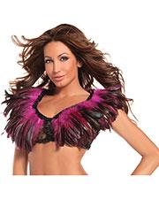 Halloween Costumes CK1001HP Women Feather Top Hot Pink at GotApparel