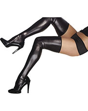 Halloween Costumes CQD1728 Women Wet Look Thigh High Stockings at GotApparel
