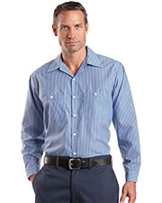 Red Kap® CS10 Men's Long-Sleeve Striped Industrial Work Shirt at GotApparel