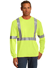 CornerStone® CS401LS Men's ANSI 107 Class 2 Long-Sleeve Safety T-Shirt at GotApparel