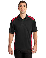 CornerStone CS416 Men's Select Snag-Proof Two Way Colorblock Pocket Polo at GotApparel