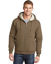 Cornerstone CS625 Men Heavyweight Sherpa-Lined Hooded Fleece Jacket at GotApparel