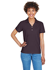 Devon & Jones Classic D100W Women Pima Pique Short-Sleeve Y Collar Polo at GotApparel