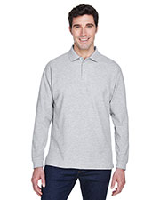 Devon & Jones Classic D110 Men Pima Pique Long-Sleeve Polo at GotApparel